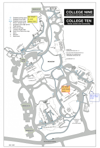 Map of College Nine/Ten Campus - Click to enlarge