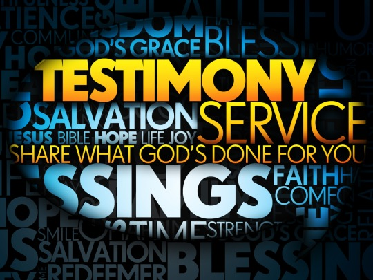 Let Pastor Tim know if you'd like to share a testimony this Sunday!