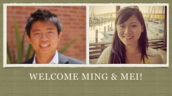 Welcome Ming and Mei..001